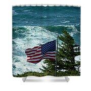 Flag Flying Shower Curtain