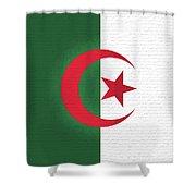 Flag Of Algeria Wall. Shower Curtain