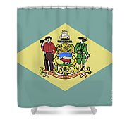 Flag Of Delaware Shower Curtain
