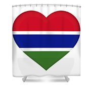 Flag Of Gambia Heart Shower Curtain