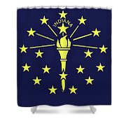 Flag Of Indiana Wall Shower Curtain