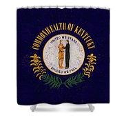 Flag Of Kentucky Grunge Shower Curtain