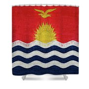 Flag Of Kiribati Texture Shower Curtain