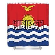 Flag Of Kiribati Word Shower Curtain