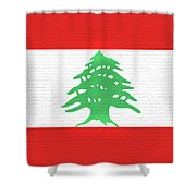 Flag Of Lebanon Wall Shower Curtain