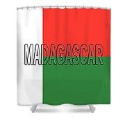 Flag Of Madagascar Word Shower Curtain