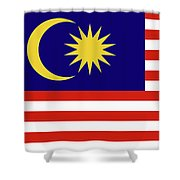 Flag Of Malaysia. Shower Curtain