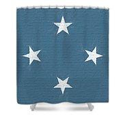 Flag Of Micronesia Wall Shower Curtain