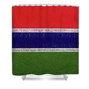 Flag Of The Gambia Grunge. Shower Curtain