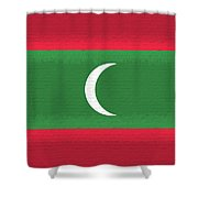 Flag Of The Maldives Wall. Shower Curtain