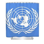 Flag Of The United Nations Shower Curtain
