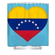 Flag Of Venezuela Heart  Shower Curtain