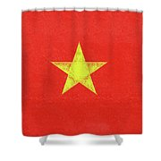 Flag Of Vietnam Grunge Shower Curtain