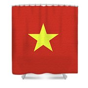 Flag Of Vietnam Wall Shower Curtain