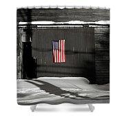 Flag On A Wentworth Barn  Shower Curtain