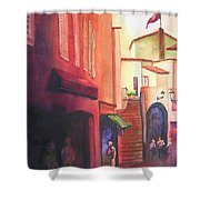 Flag Over St. Tropez Shower Curtain