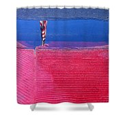 Flag Reflection In Water 1 Casa Grande Arizona 2005 Shower Curtain
