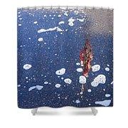 Flag Reflection In Water 2 Casa Grande Arizona 2005 Shower Curtain