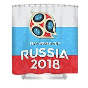 Flag Russia World Cup Shower Curtain