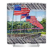 Flag Walk 2 Shower Curtain