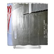 Flag Wwii Aircraft Shower Curtain