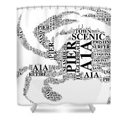 Flagler Beach Crab Art Shower Curtain