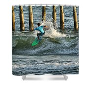 Flagler Beach Surf Day Shower Curtain