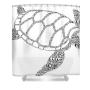 Flagler Beach Word Art Shower Curtain