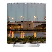 Flagler Bridge In Lights IIi Shower Curtain
