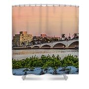 Flagler Bridge In The Evening I Shower Curtain