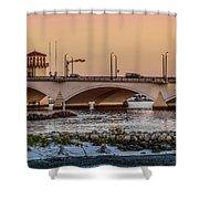 Flagler Bridge In The Evening IIi Shower Curtain
