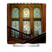 Flagler College Stained Glass Shower Curtain