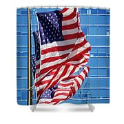 Flags Flying Shower Curtain