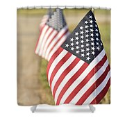 Flags Line Up Shower Curtain