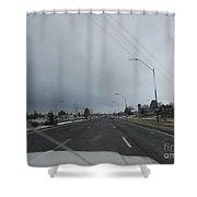 Flagstaff Traffic Shower Curtain