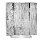 Flaking Grey Wood Paint Shower Curtain