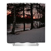 Flambeau Sunset Shower Curtain