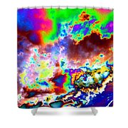 Flamboyant Cloudscape Shower Curtain