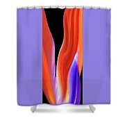 Flame - Bird Of Paradise   Shower Curtain
