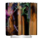 Flame Flower And Bamboo Shower Curtain