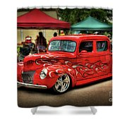 Flame Hot Truck Shower Curtain