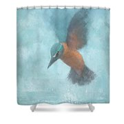 Flame In The Mist Shower Curtain