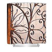 Flame Iron Works Shower Curtain
