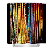 Flame Lines Shower Curtain