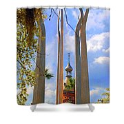 flame of the Sky Shower Curtain