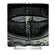 Flame On Hot Air Balloon Shower Curtain
