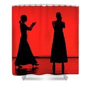 Flamenco Red An Black Spanish Passion For Dance And Rithm Shower Curtain