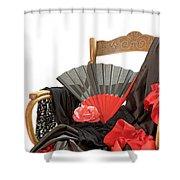 Flamenco Clothing  Shower Curtain