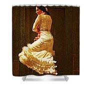 Flamenco Dancer #20 - The White Dress Shower Curtain