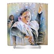 Flamenco Dancer Shower Curtain